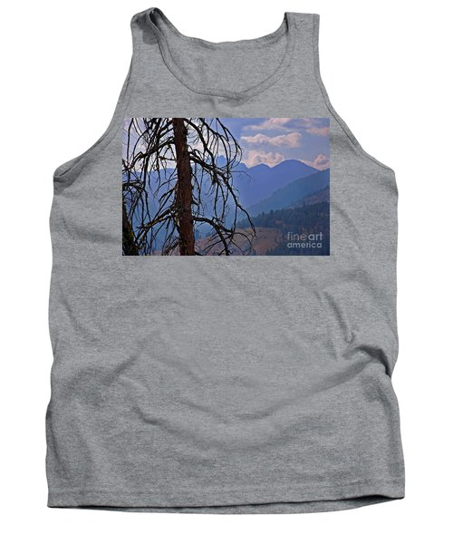 Tank Top featuring the photograph Dead Tree Mountains Landscape by Valerie Garner