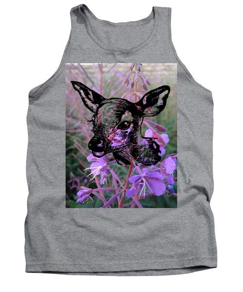 Deer On Flower Tank Top