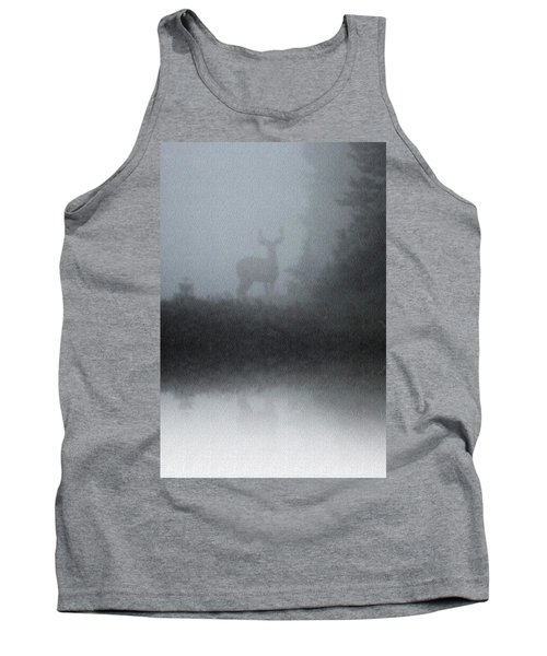 Tank Top featuring the photograph Deer Reflecting by Diane Alexander