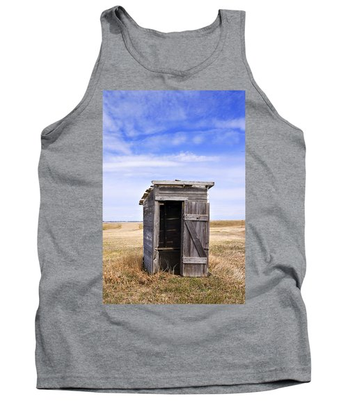 Defunct Outhouse At Rural Elementary School Tank Top