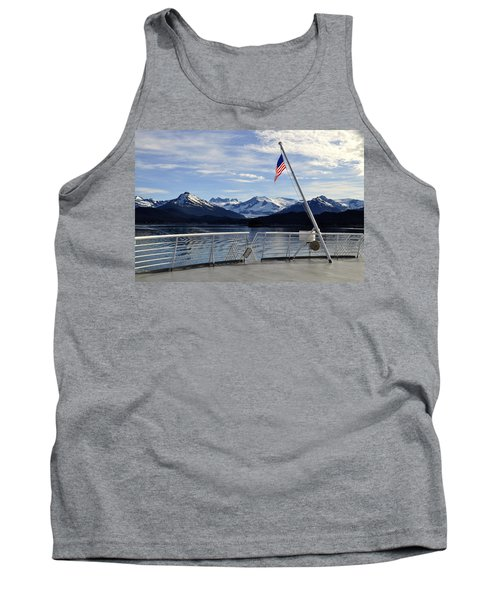 Tank Top featuring the photograph Departing Auke Bay by Cathy Mahnke