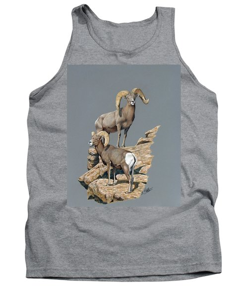Desert Bighorn Rams Tank Top