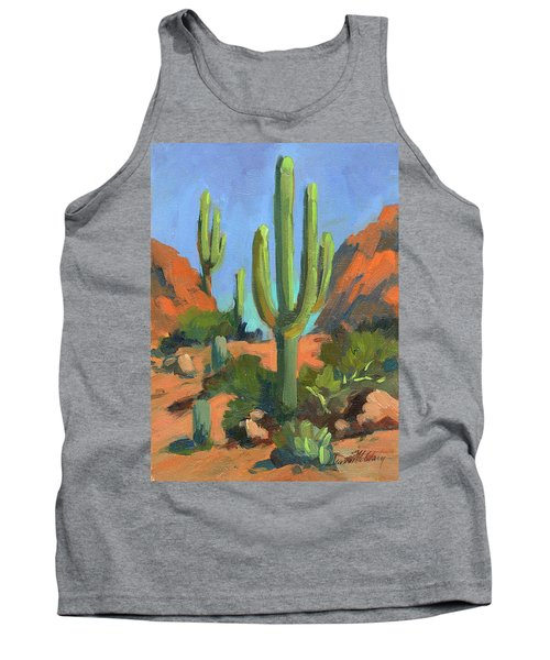 Desert Morning Saguaro Tank Top