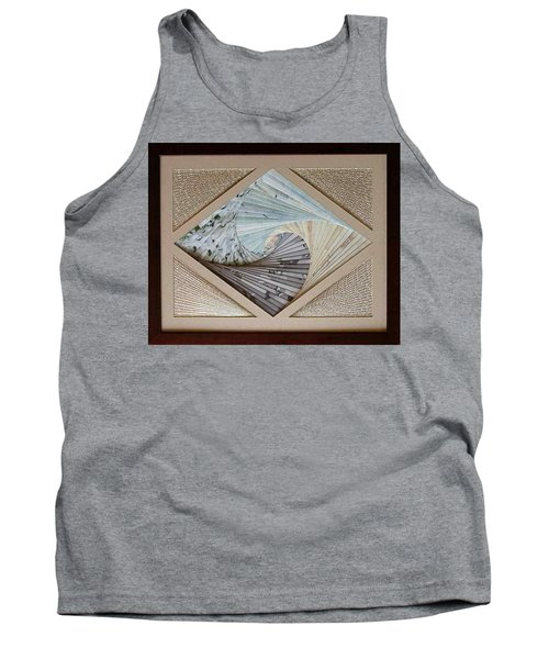Tank Top featuring the mixed media Diamonds Are Forever by Ron Davidson