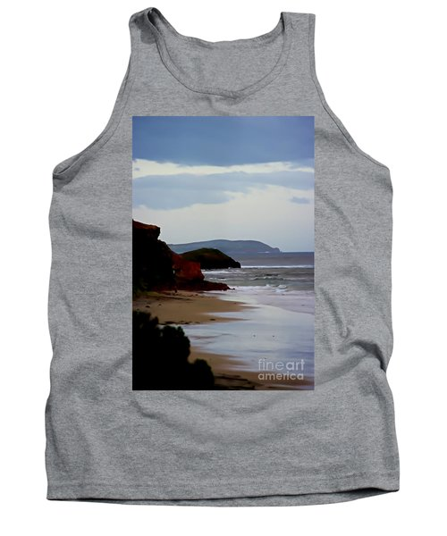 Digital Painting Of Smiths Beach Tank Top by Blair Stuart