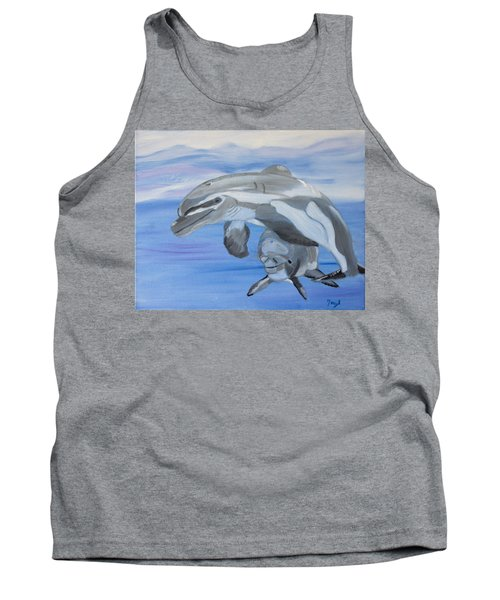 Sublime Dolphins Tank Top by Meryl Goudey