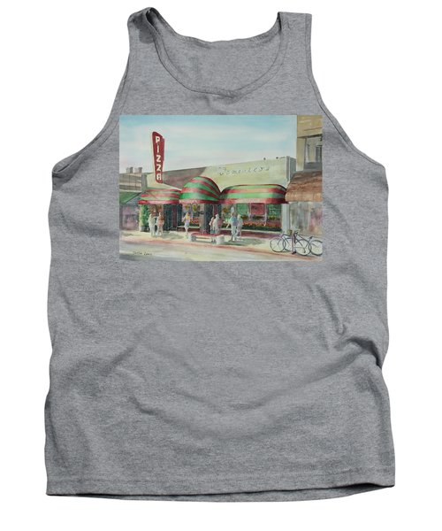 Domenicos In Long Beach Tank Top by Debbie Lewis