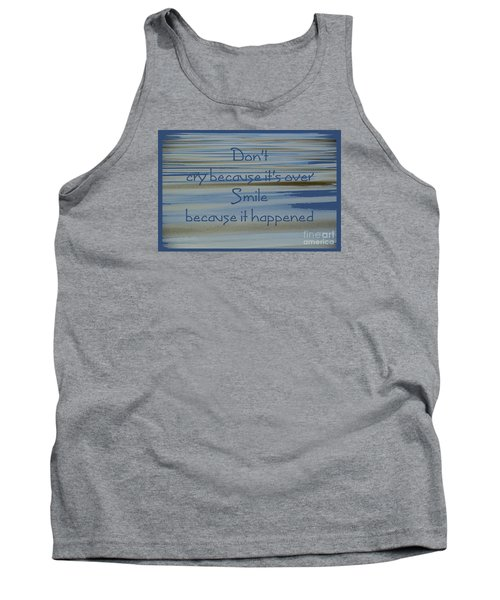 Don't Cry.....1 Tank Top by Wendy Wilton