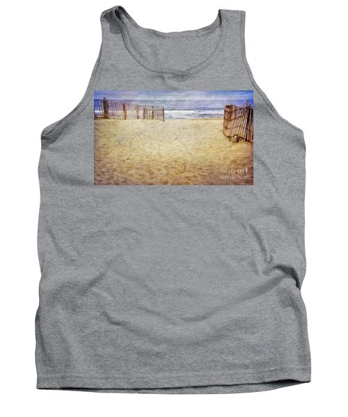 Tank Top featuring the photograph Down The Shore by Debra Fedchin