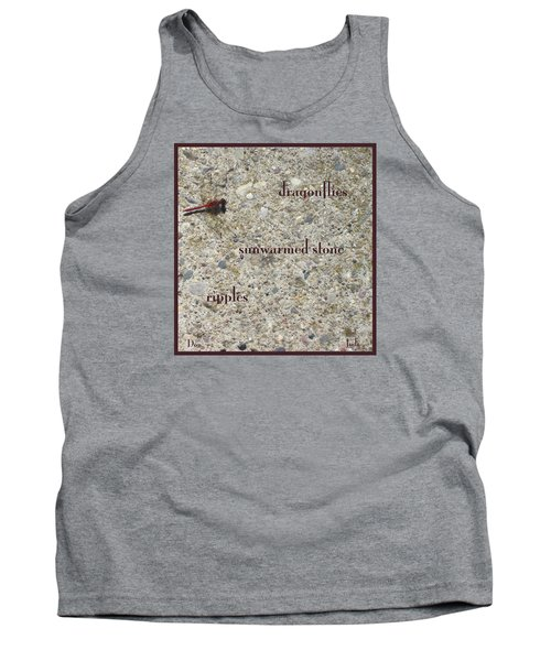 Tank Top featuring the photograph Dragonflies Haiga by Judi and Don Hall