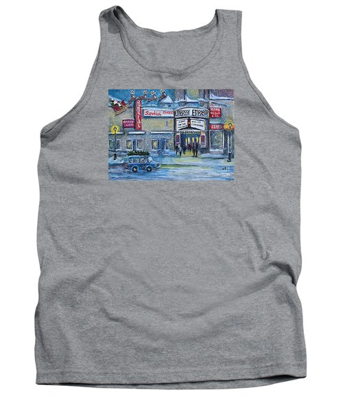 Tank Top featuring the painting Dreaming Of A White Christmas by Rita Brown