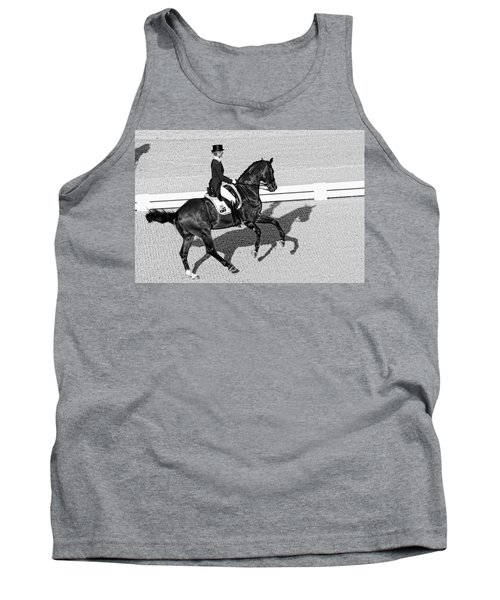 Dressage Une Noir Tank Top by Alice Gipson