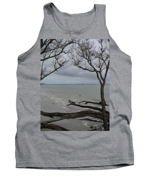 Driftwood On The Beach Tank Top by Christiane Schulze Art And Photography