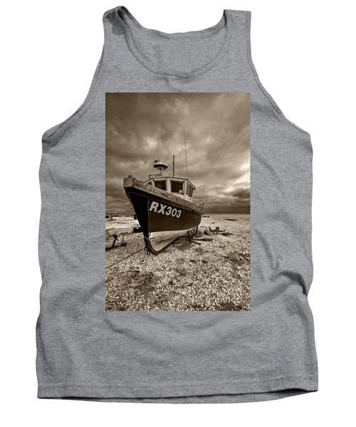 Dungeness Boat Under Stormy Skies Tank Top