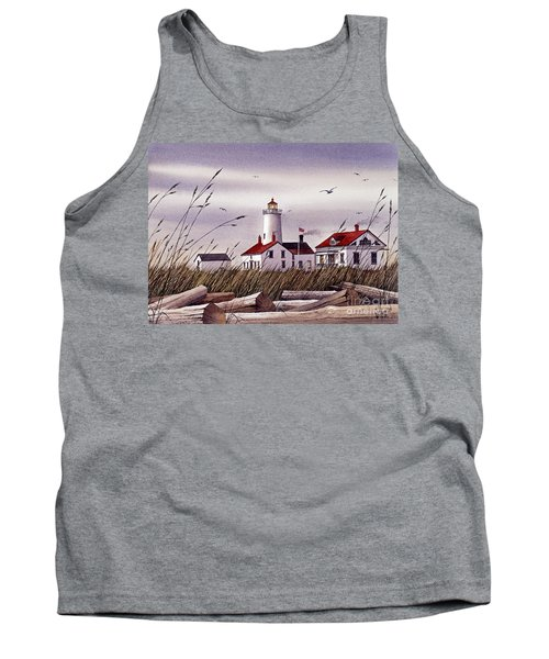 Dungeness Lighthouse Tank Top by James Williamson