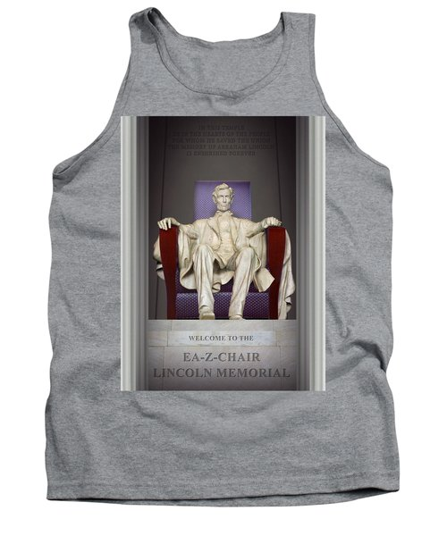 Ea-z-chair Lincoln Memorial 2 Tank Top by Mike McGlothlen