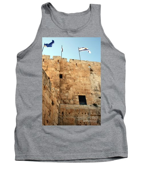 Tank Top featuring the photograph Early Morning At The Jaffa Gate by Doc Braham
