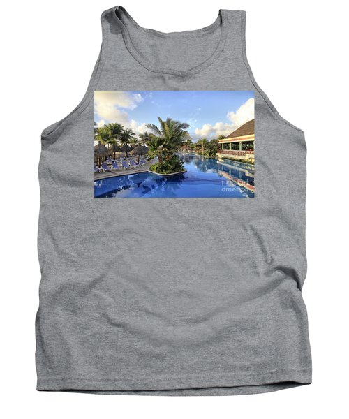 Tank Top featuring the photograph Early Morning At The Pool by Teresa Zieba