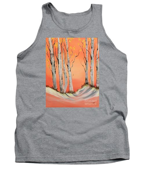 Tank Top featuring the painting Early Winter Aspen by Janice Rae Pariza