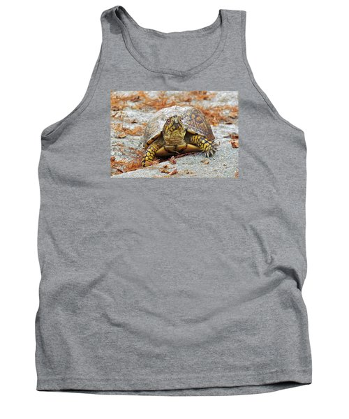 Tank Top featuring the photograph Eastern Box Turtle by Cynthia Guinn