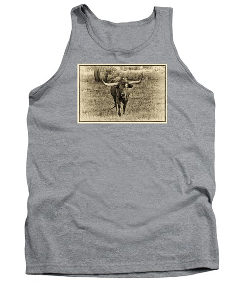 Eat Leaf Not Beef Sepia Tank Top