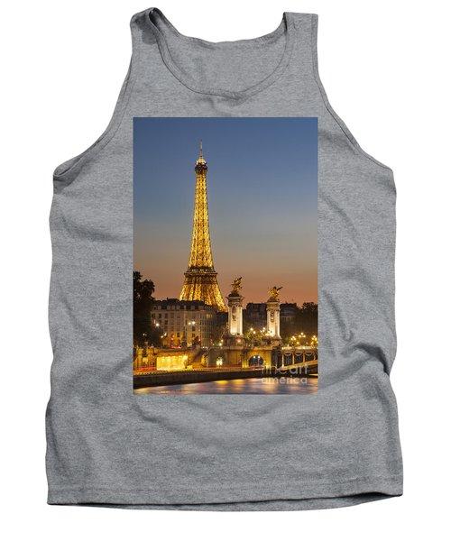 Eiffel At Twilight Tank Top