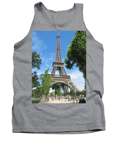Tank Top featuring the photograph Eiffel Tower - 1 by Pema Hou