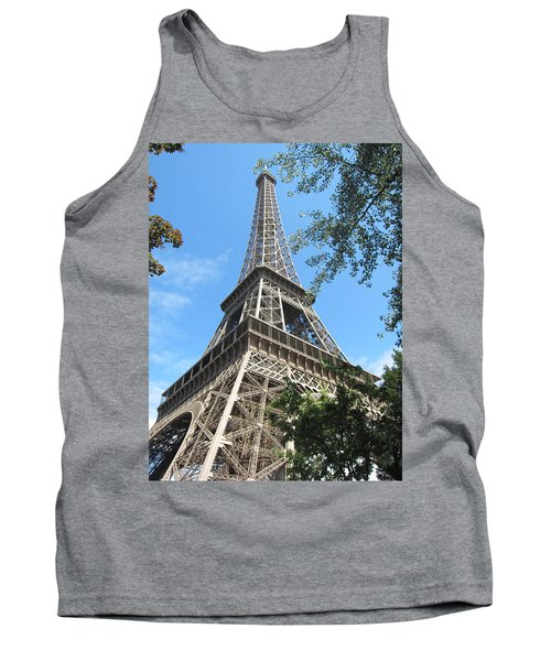 Tank Top featuring the photograph Eiffel Tower - 2 by Pema Hou