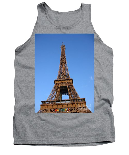 Tank Top featuring the photograph Eiffel Tower 2005 Ville Candidate by HEVi FineArt