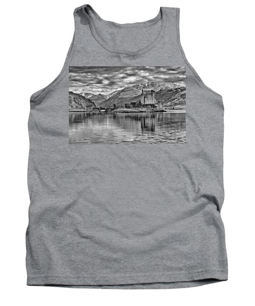Eilean Donan - A Reflection Without Colour Tank Top