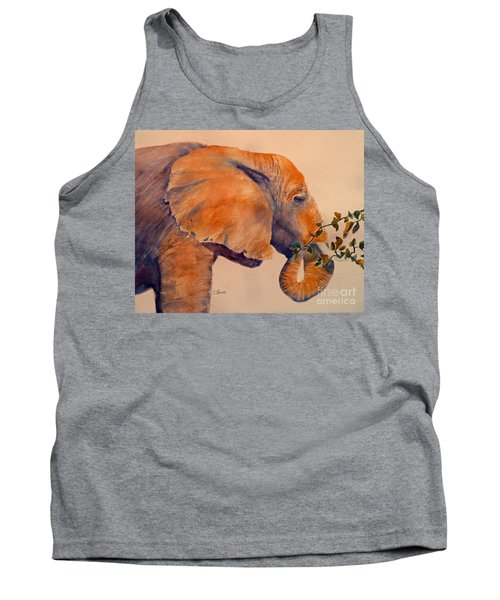 Elephant Eating Tank Top