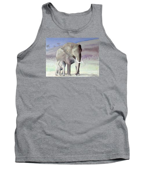 Elephant Family Tank Top by Laurel Best