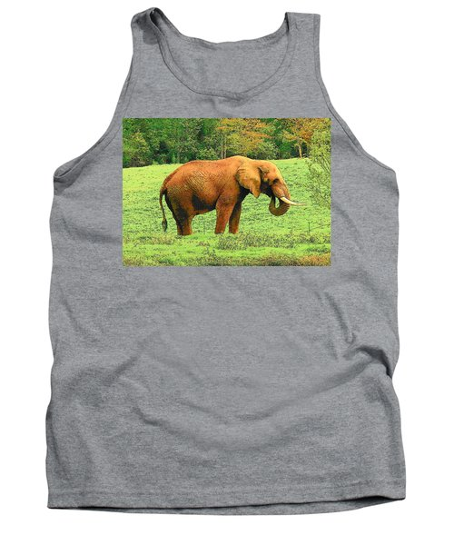 Tank Top featuring the photograph Elephant by Rodney Lee Williams