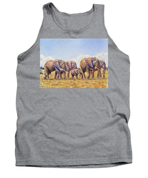Elephants Walking Tank Top