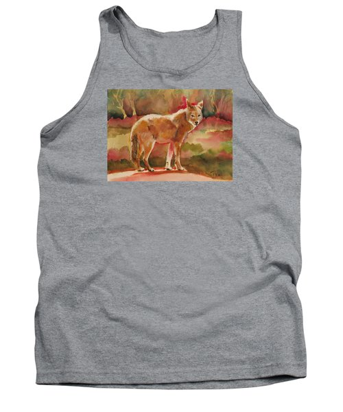 Tank Top featuring the painting Elusive Visitor by Pattie Wall
