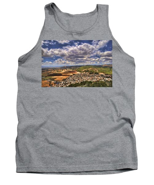 Tank Top featuring the photograph Emek Israel by Ron Shoshani