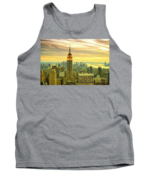 Empire State Building In The Evening Tank Top