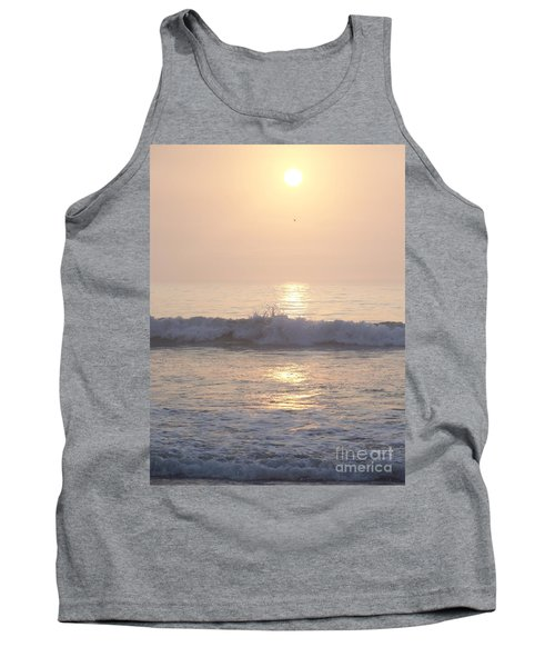 Tank Top featuring the photograph Hampton Beach Wave Ends With A Splash by Eunice Miller