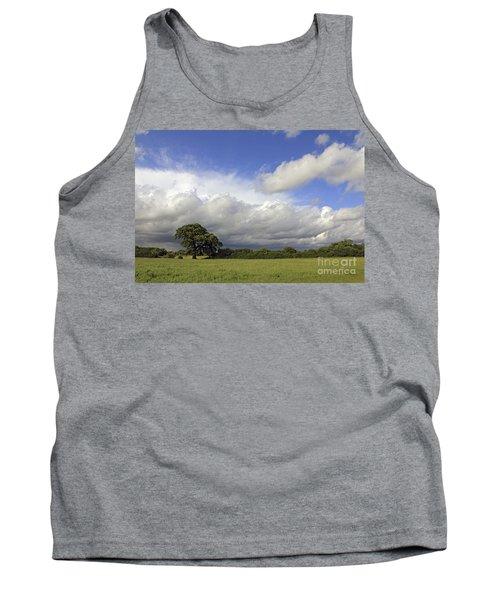 English Oak Under Stormy Skies Tank Top