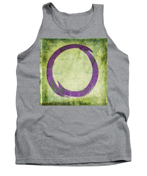 Enso No. 108 Purple On Green Tank Top