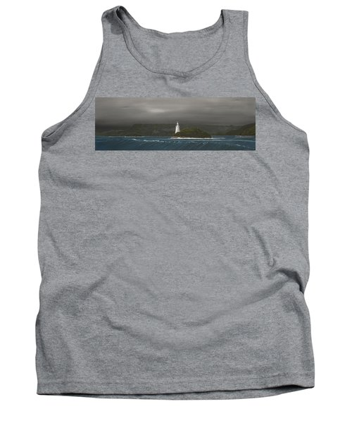 Tank Top featuring the painting Entrance To Macquarie Harbour - Tasmania by Tim Mullaney