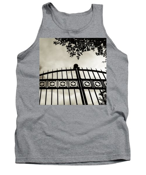 Tank Top featuring the photograph Entrances To Exits - Gates by Steven Milner