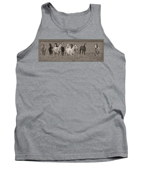 Tank Top featuring the photograph Escapees From A Lineup D8056 by Wes and Dotty Weber