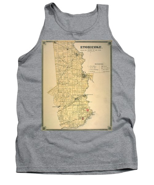 Etobicoke Map 1878 Tank Top