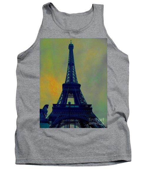 Evening Eiffel Tower Tank Top