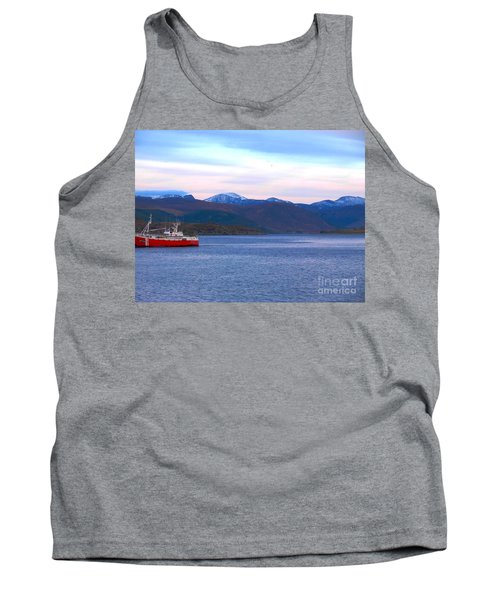Evening Ferry At Ullapool Tank Top