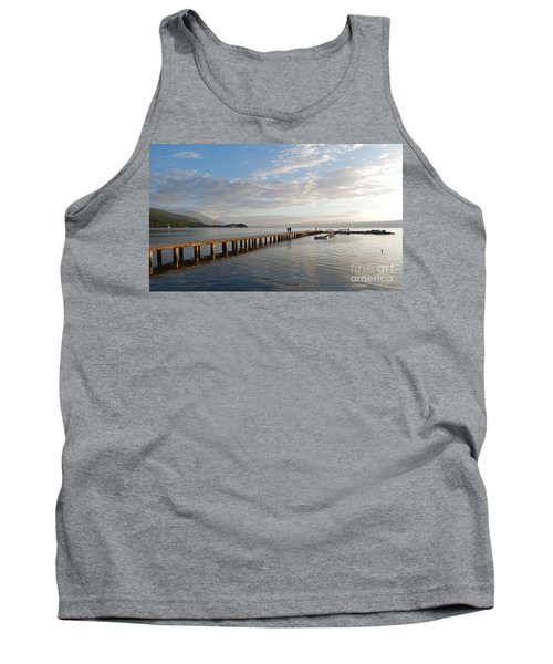 Tank Top featuring the photograph Evening - Lake Ohrid - Macedonia by Phil Banks