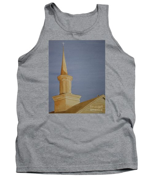 Tank Top featuring the painting Evening Worship by Stacy C Bottoms