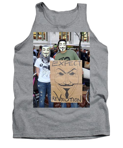 Tank Top featuring the photograph Expect Revolution by Ed Weidman