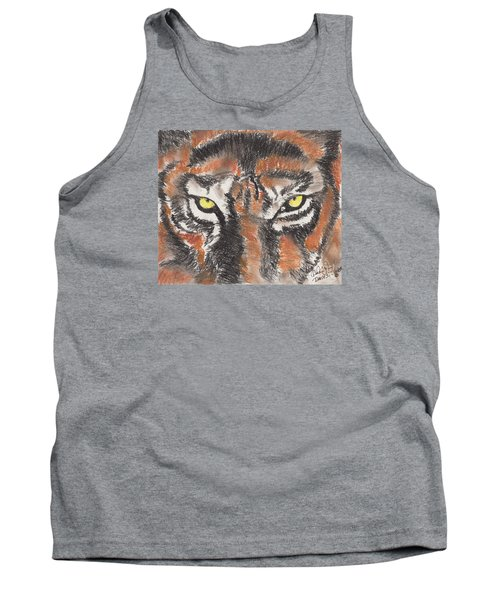 Eye Of The Tiger Tank Top by David Jackson